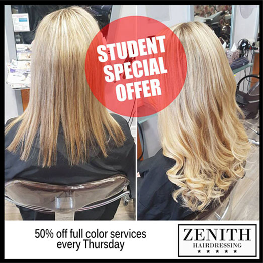 Student 50% Offer Every Thursday